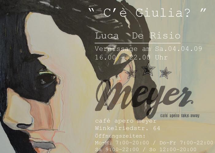 """Flyer Ausstellung """"C'è Giulia?"""""""