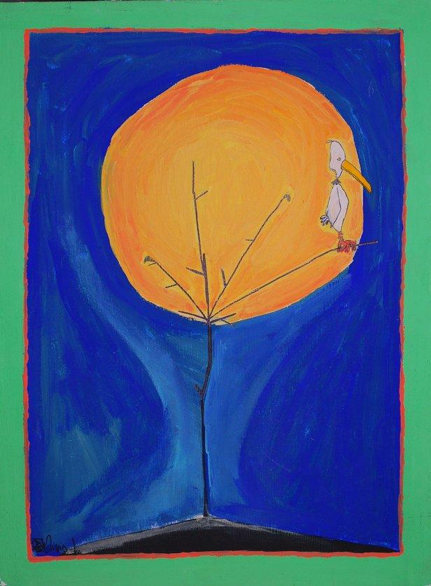 La luna e l'uccello