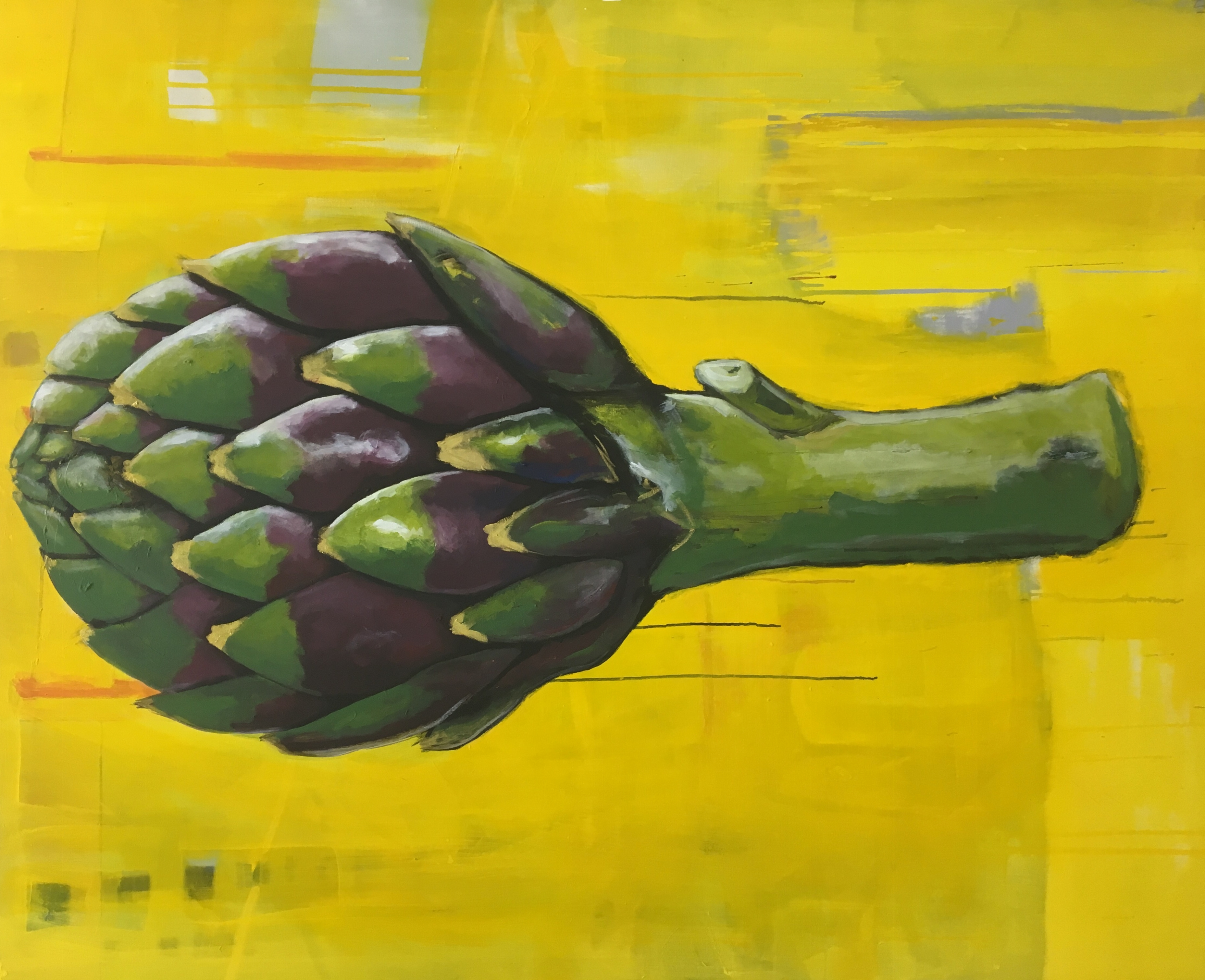 Carciofo grande su giallo
