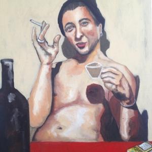 Selbstportraitin Kleinmattstrasse